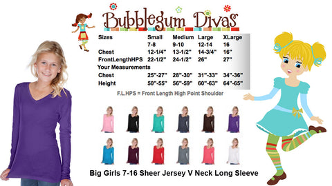 Girls V-Neck Long Sleeves
