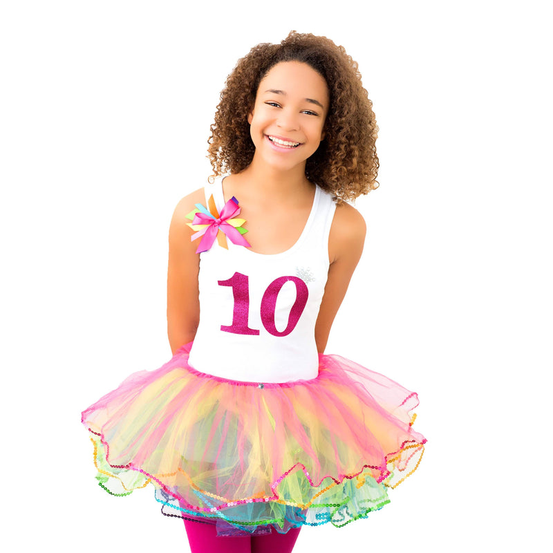 10th Birthday Rainbow Party Outfit - 10th Birthday - Bubblegum Divas Store