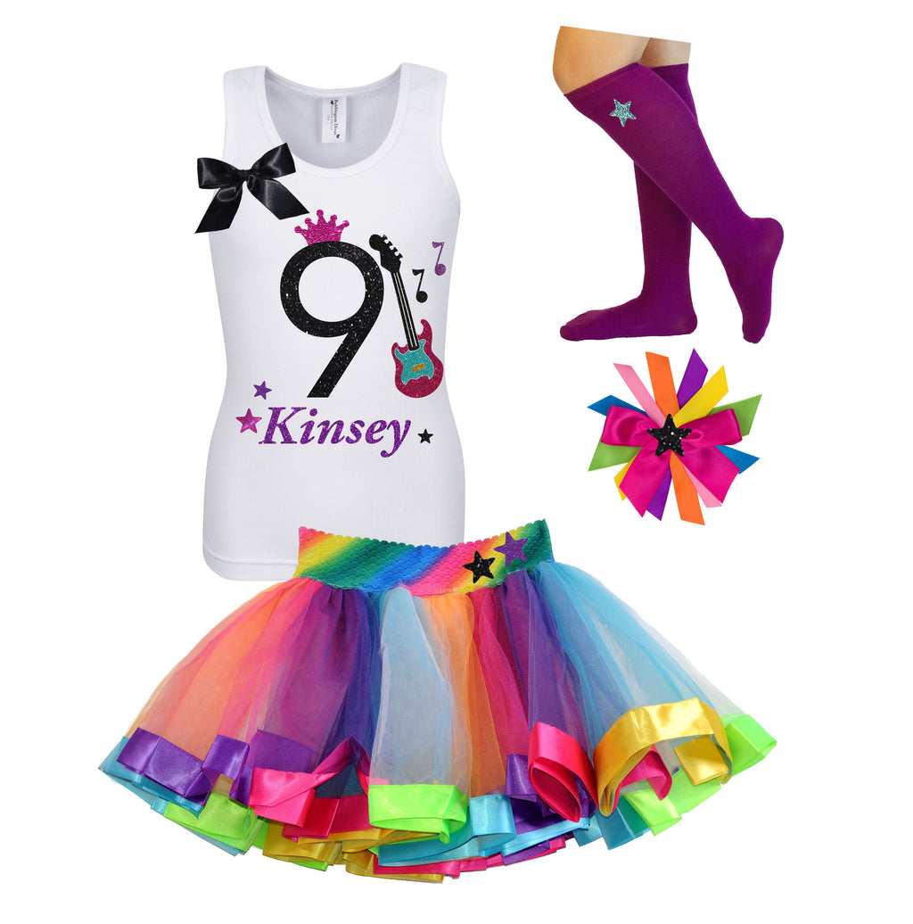 9th Birthday Outfit - Rock N Roll Party - Outfit - Bubblegum Divas Store