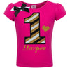 1st Birthday Shirt - Black Gold Stripes - Shirt - Bubblegum Divas Store