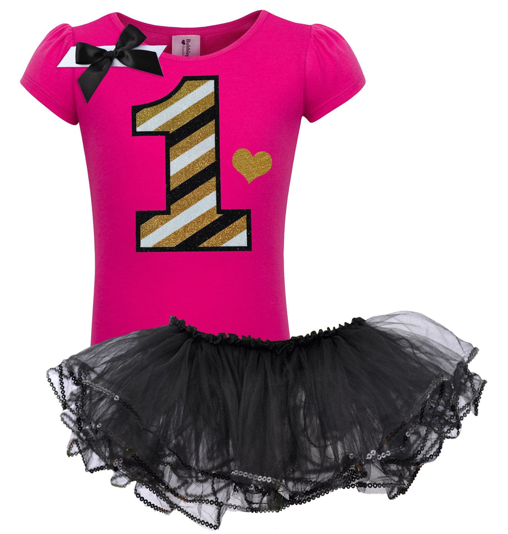Black Gold Stripes 1st Birthday - Lollipop 1-5 - Bubblegum Divas Store