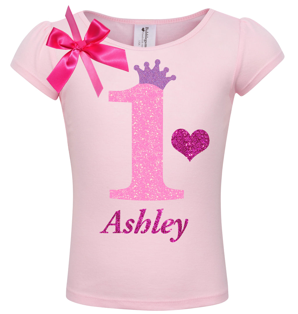 1st Birthday Shirt - Pink Bubble Sparkle - Shirt - Bubblegum Divas Store