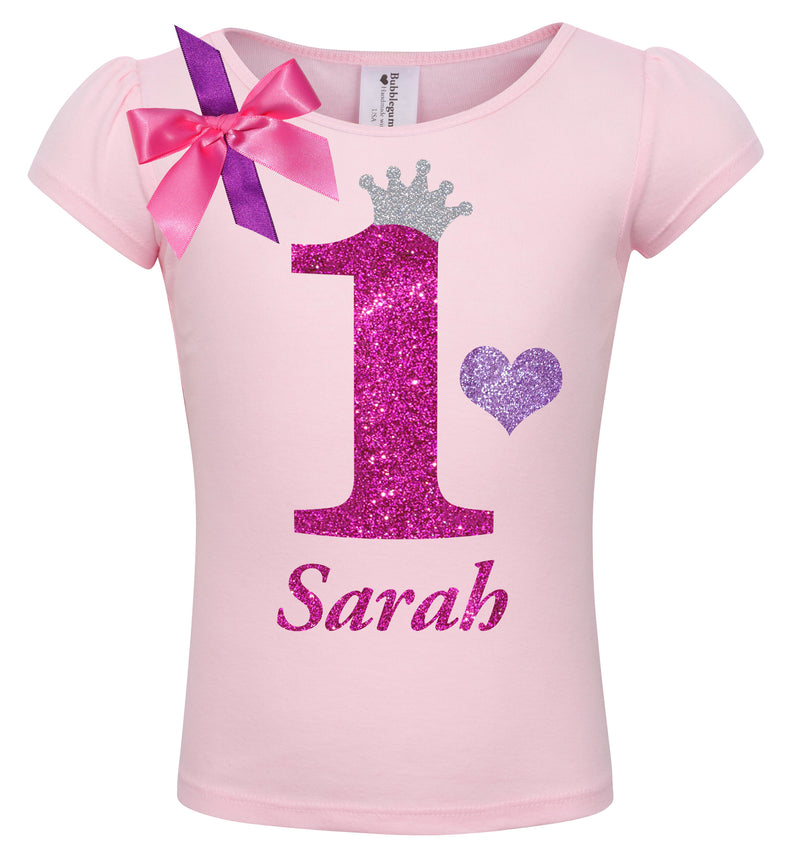 1st Birthday Shirt - Bubble Berry Sparkle - Shirt - Bubblegum Divas Store