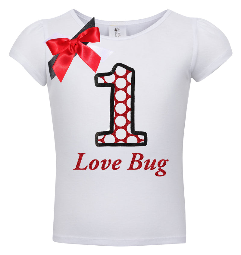 1st Birthday Shirt - Love Bug - Shirt - Bubblegum Divas Store