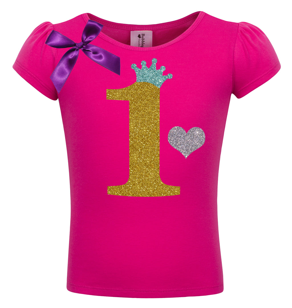 1st Birthday Shirt - Gold Sparkle Diva - Shirt - Bubblegum Divas Store