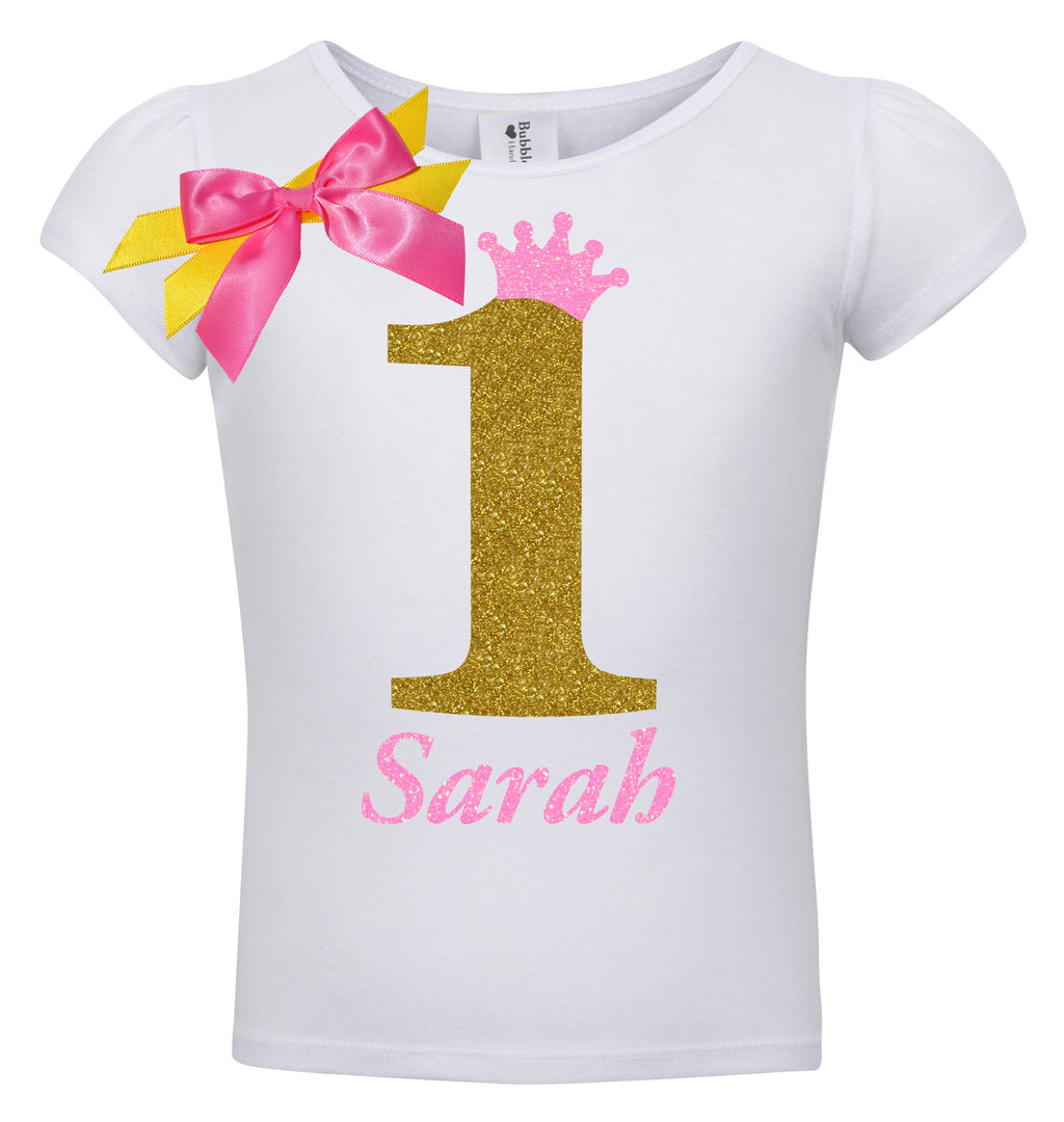 1st Birthday Shirt - Golden Caramel - Shirt - Bubblegum Divas Store