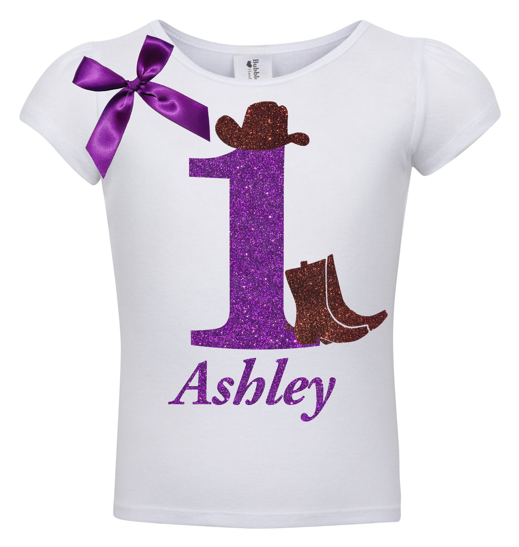1st Birthday Shirt - Cowgirl Boots - Shirt - Bubblegum Divas Store