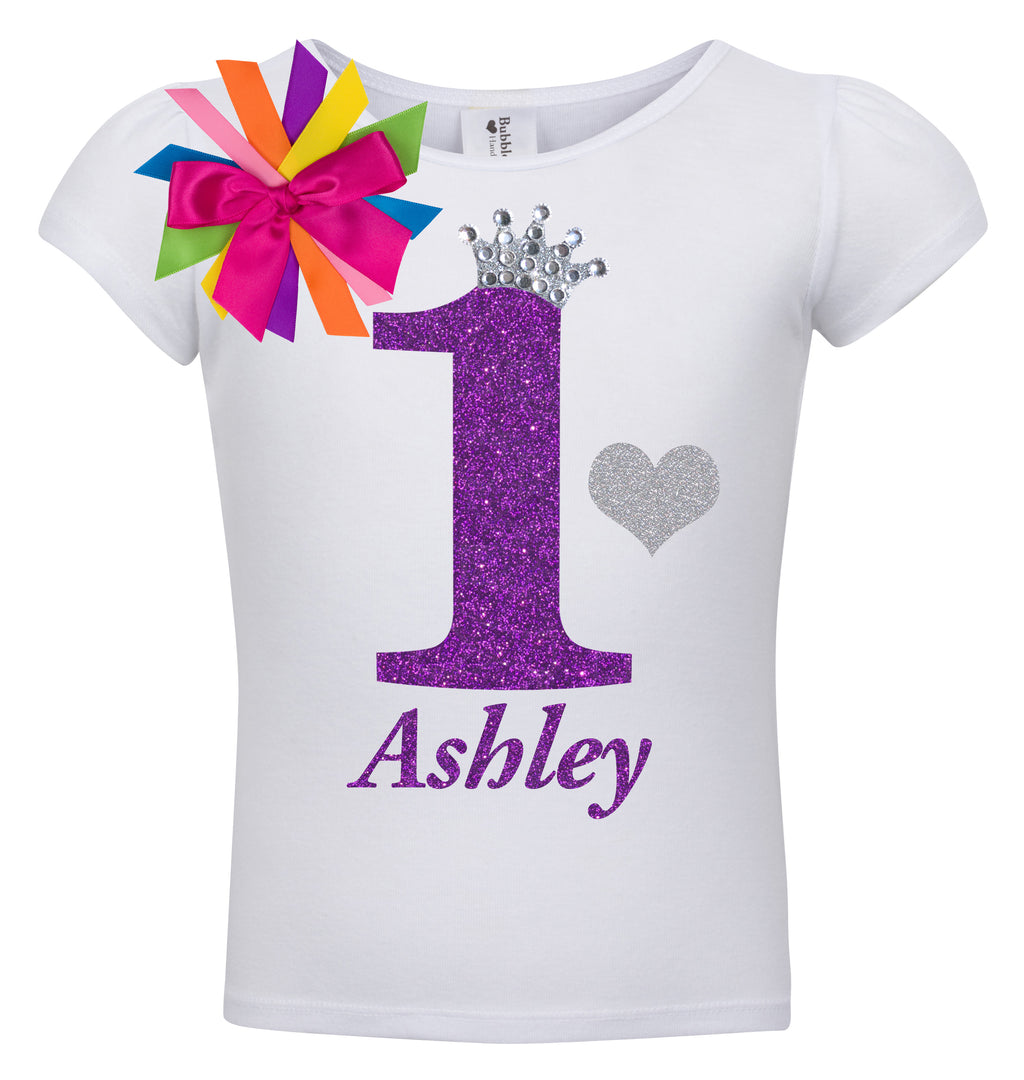 1st Birthday Shirt - Diamond Grape - Shirt - Bubblegum Divas Store