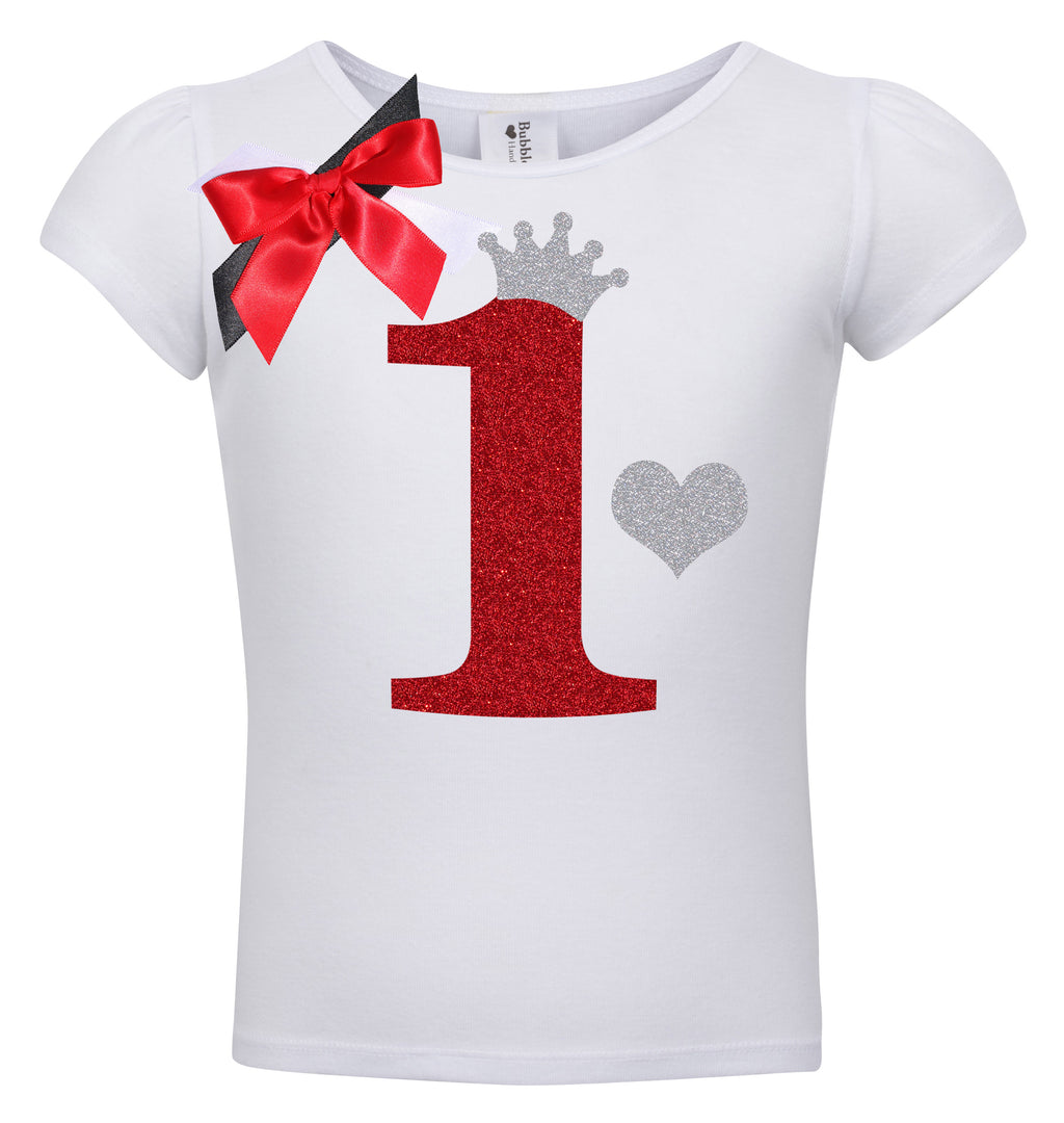 1st Birthday Shirt - Red Cherry Dazzle - Shirt - Bubblegum Divas Store