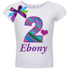 2nd Birthday Shirt - Diamond Grape