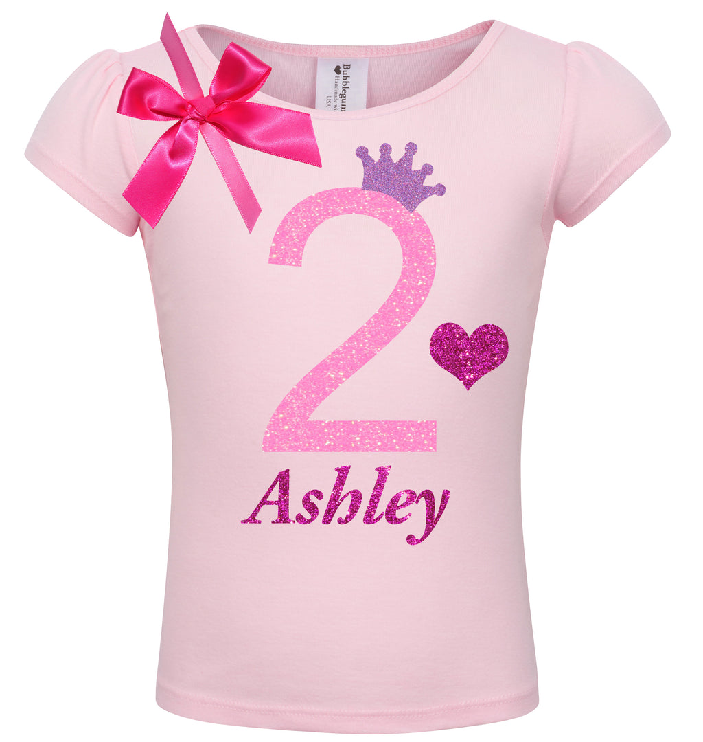 2nd Birthday Shirt - Pink Bubble Sparkle - Shirt - Bubblegum Divas Store