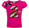 2nd Birthday Shirt - Black Gold Stripes - Shirt - Bubblegum Divas Store