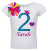 2nd Birthday Shirt - Blue Cherry Twist - Shirt - Bubblegum Divas Store