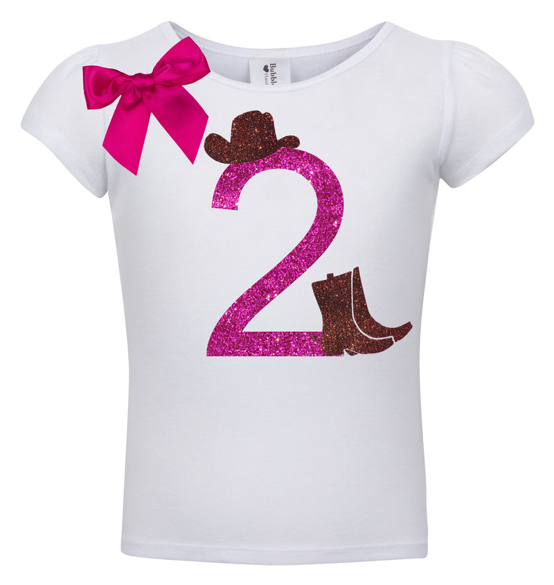 2nd Birthday Shirt - Cowgirl Hat - Shirt - Bubblegum Divas Store