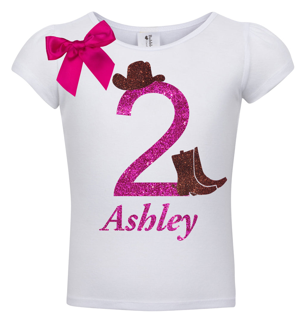 2nd Birthday Shirt - Cowgirl Style - Shirt - Bubblegum Divas Store