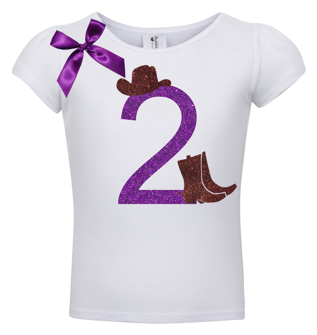 2nd Birthday Shirt - Cowgirl Boots - Shirt - Bubblegum Divas Store
