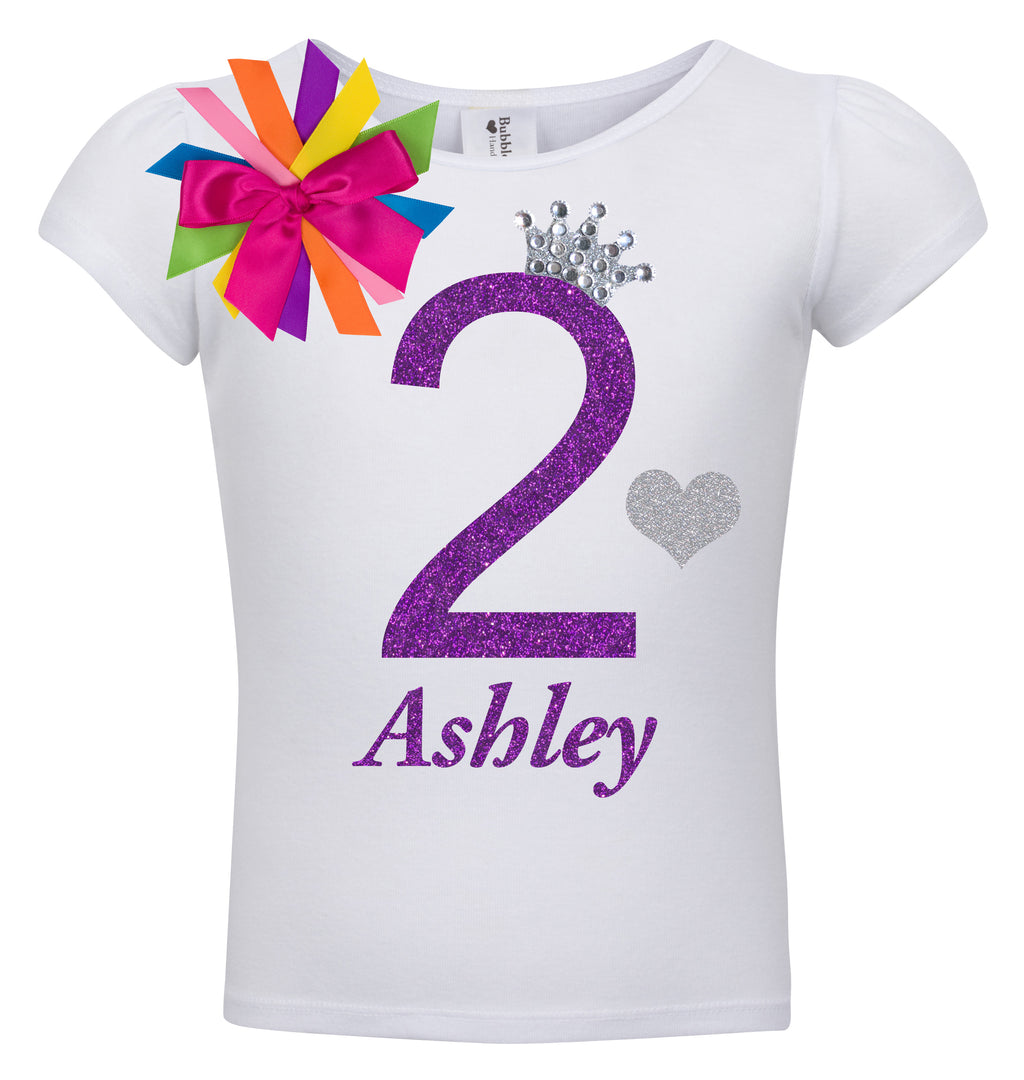 2nd Birthday Shirt - Diamond Grape - Shirt - Bubblegum Divas Store