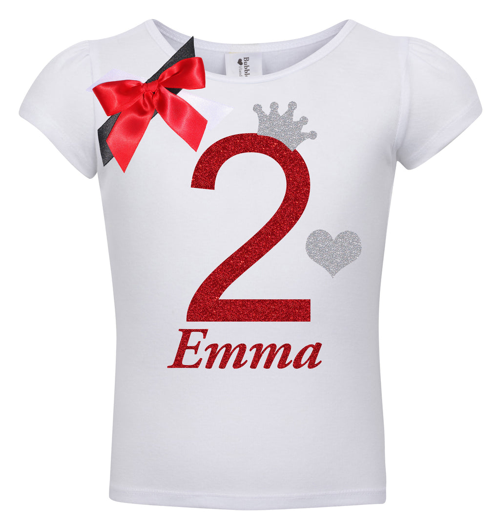 2nd Birthday Shirt - Red Cherry Dazzle - Shirt - Bubblegum Divas Store