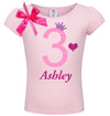 3rd Birthday Shirt - Red Cherry Dazzle