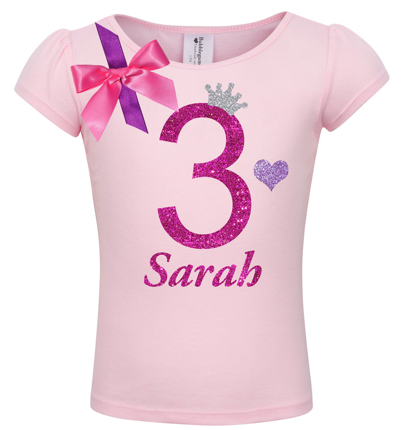 3rd Birthday Shirt - Bubble Berry Sparkle - Shirt - Bubblegum Divas Store