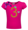 3rd Birthday Shirt - Gold Sparkle Diva - Shirt - Bubblegum Divas Store