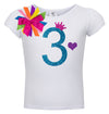 3rd Birthday Shirt - Blue Cherry Twist - Shirt - Bubblegum Divas Store