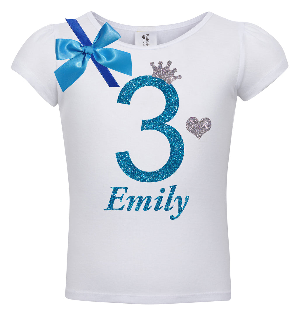 3rd Birthday Shirt - Blueberry Bliss - Shirt - Bubblegum Divas Store