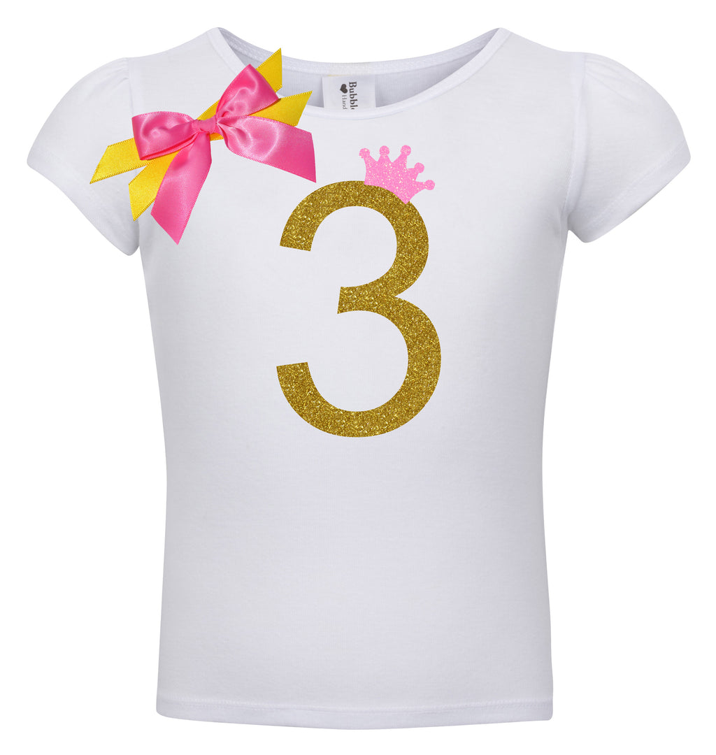 3rd Birthday Shirt - Golden Caramel - Shirt - Bubblegum Divas Store