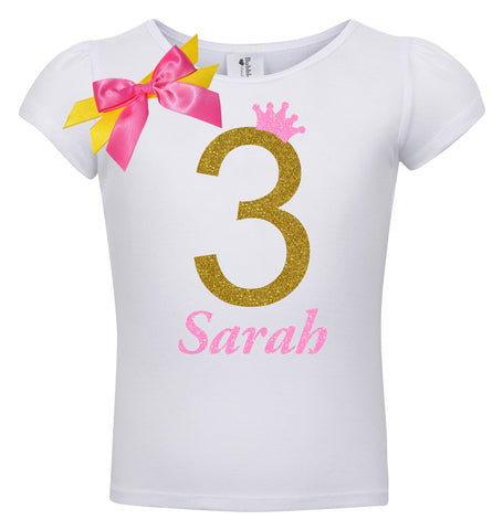 3rd Birthday Shirt - Bubble Berry Sparkle