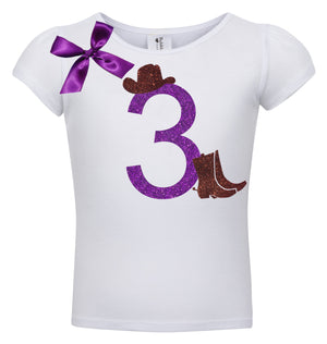 3rd Birthday Shirt - Cowgirl Boots - Shirt - Bubblegum Divas Store
