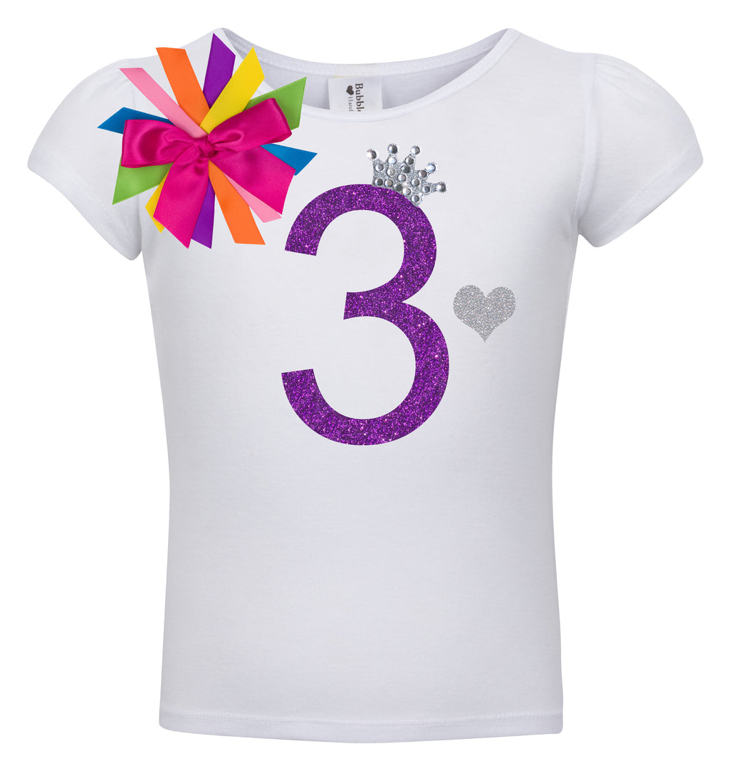 3rd Birthday Shirt - Diamond Grape - Shirt - Bubblegum Divas Store