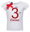 3rd Birthday Shirt - Red Cherry Dazzle - Shirt - Bubblegum Divas Store