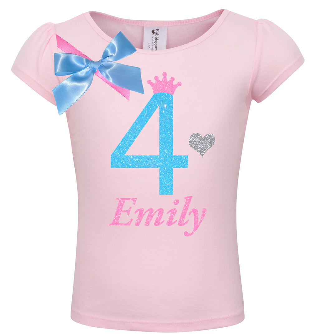 4th Birthday Shirt - Sweet Candy Cotton - Shirt - Bubblegum Divas Store