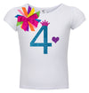 4th Birthday Shirt - Blue Cherry Twist - Shirt - Bubblegum Divas Store