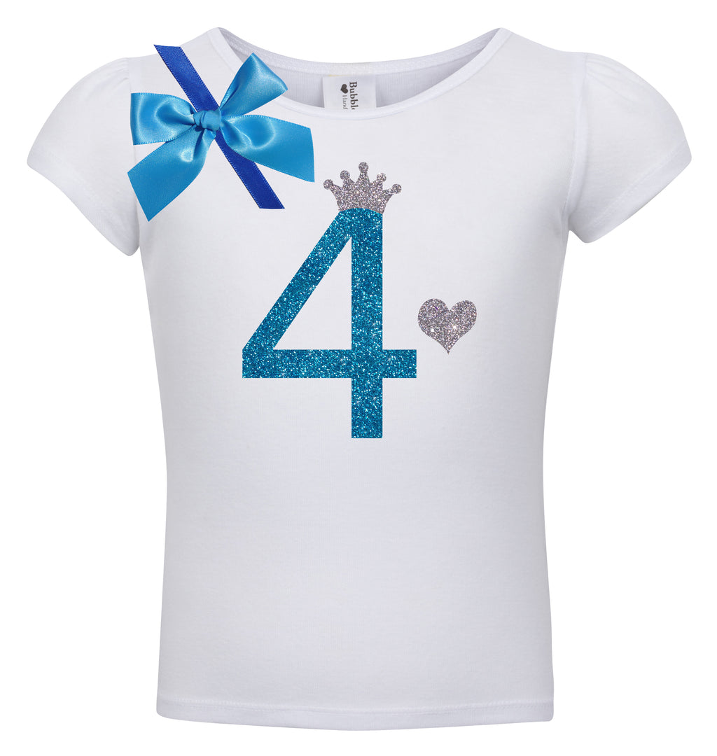 4th Birthday Shirt - Blueberry Bliss - Shirt - Bubblegum Divas Store