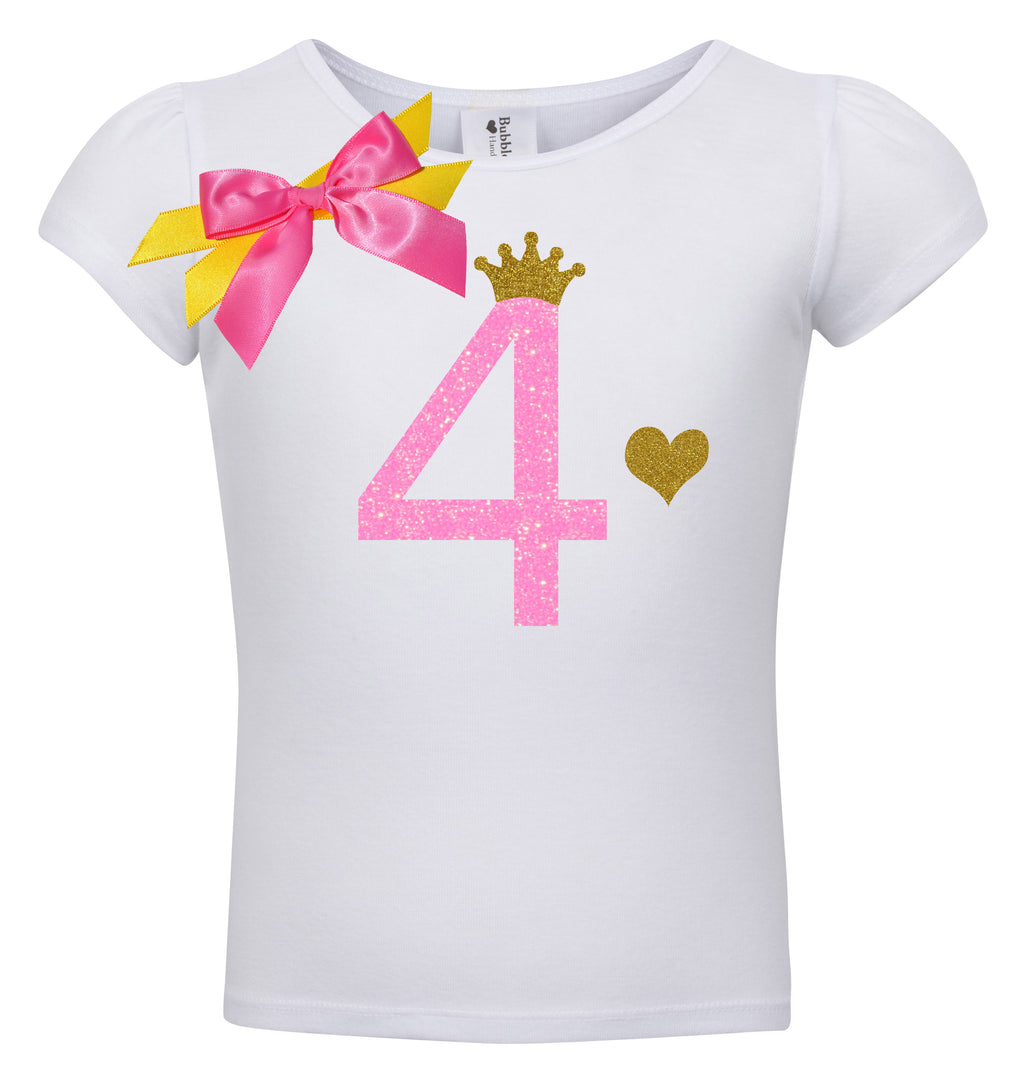 4th Birthday Shirt - Pink Sugar Diva - Shirt - Bubblegum Divas Store