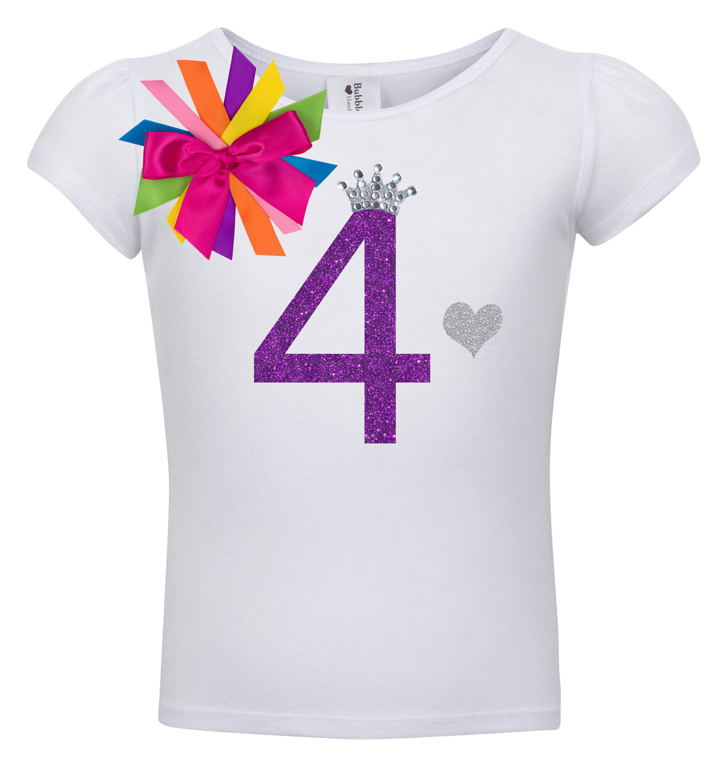 4th Birthday Shirt - Diamond Grape - Shirt - Bubblegum Divas Store