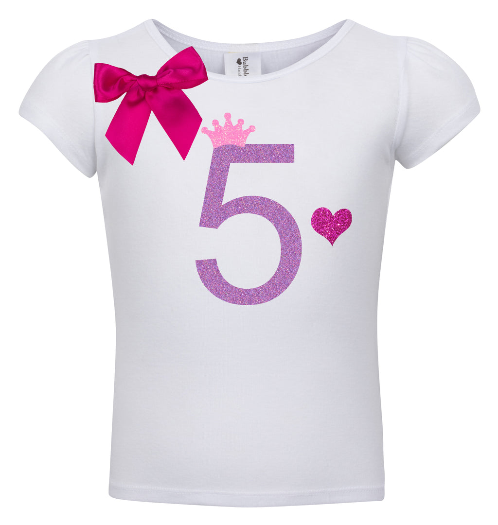 5th Birthday Shirt - Snizzle Berry