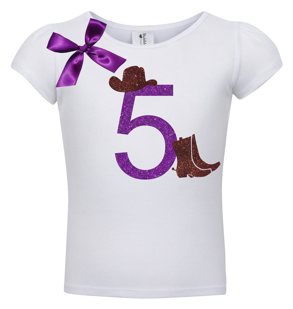 5th Birthday Shirt - Cowgirl Hat - Shirt - Bubblegum Divas Store