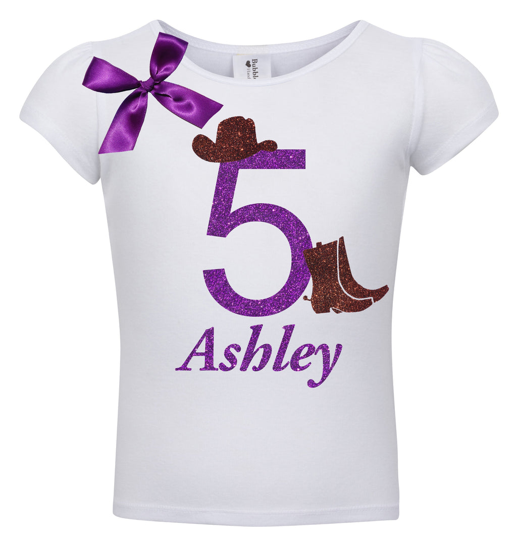 5th Birthday Shirt - Cowgirl Hat