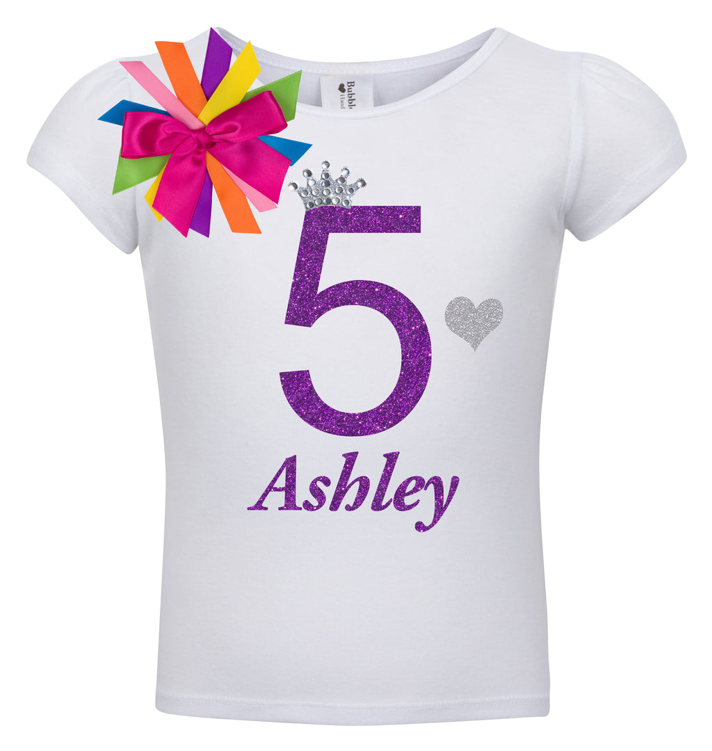 5th Birthday Shirt - Diamond Grape - Shirt - Bubblegum Divas Store
