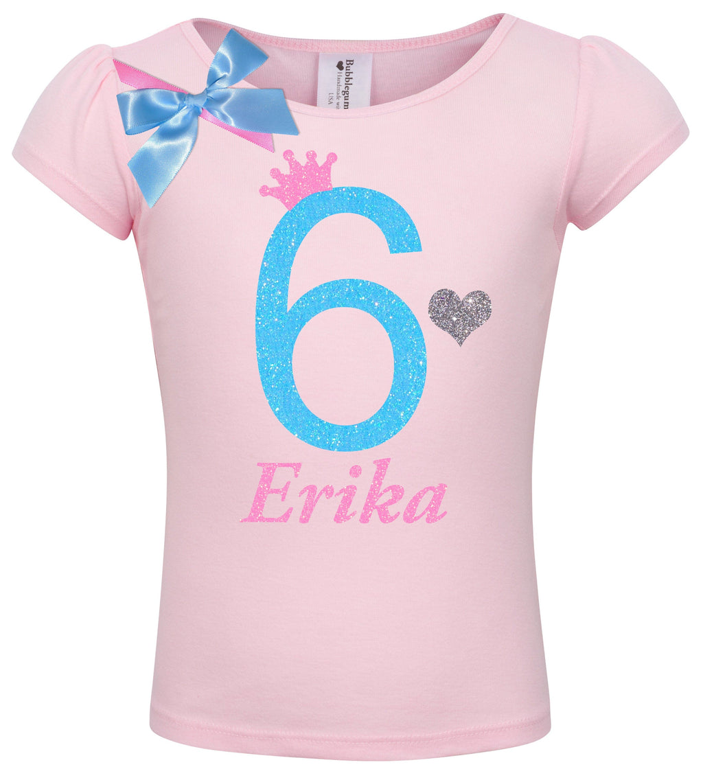 6th Birthday Shirt - Sweet Candy Cotton - Shirt - Bubblegum Divas Store