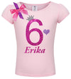 6th Birthday Shirt - Bubble Berry Sparkle - Shirt - Bubblegum Divas Store