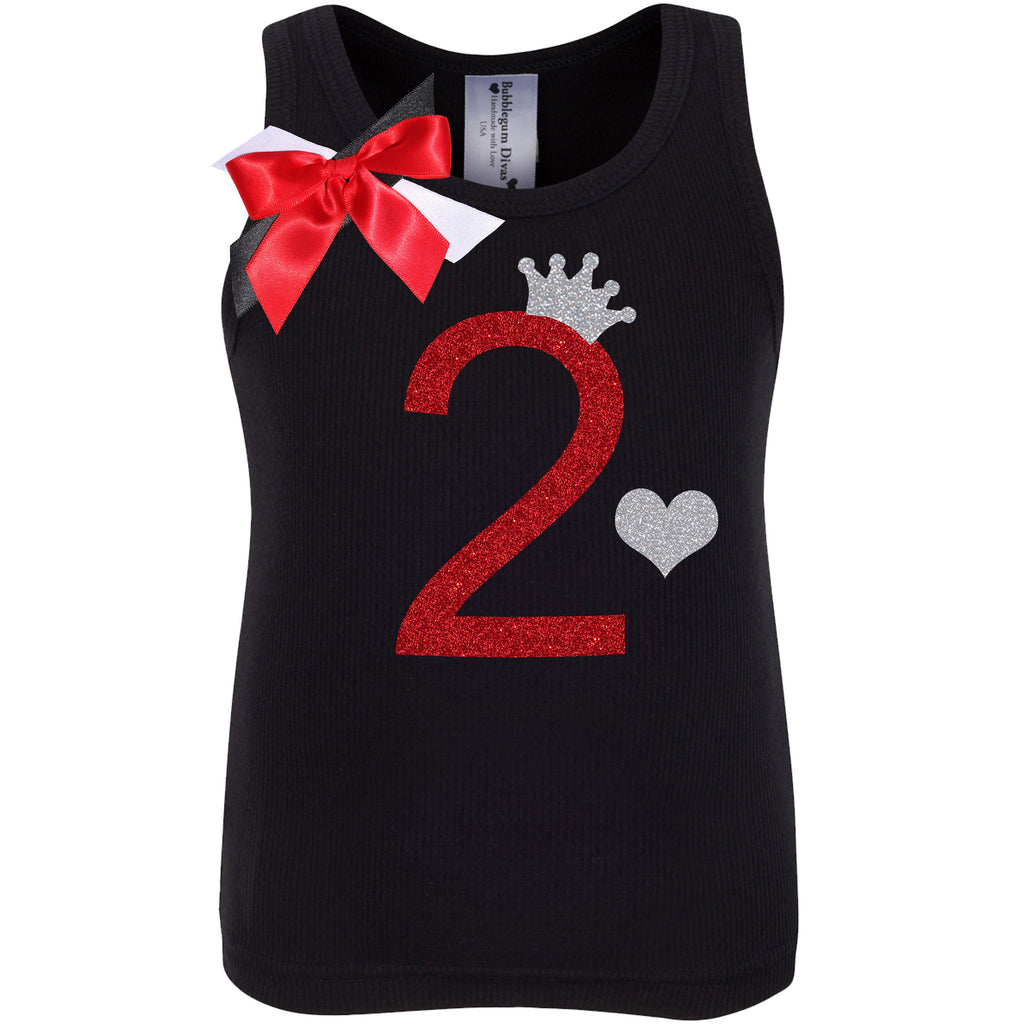 2nd Birthday Shirt - Black Cherry Dazzle