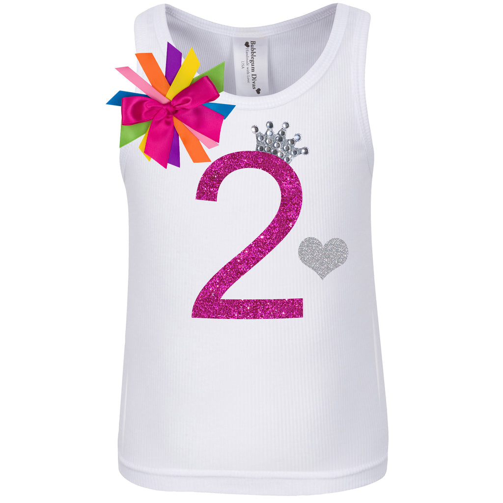 2nd Birthday Shirt - Diamond Cherry - Shirt - Bubblegum Divas Store