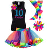 10th Birthday Outfit - Blue Cherry Twist - Outfit - Bubblegum Divas Store