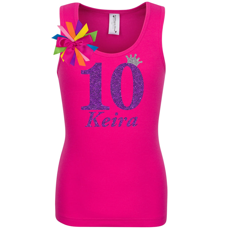 10th Birthday Shirt - Purple Bubble Sparkle