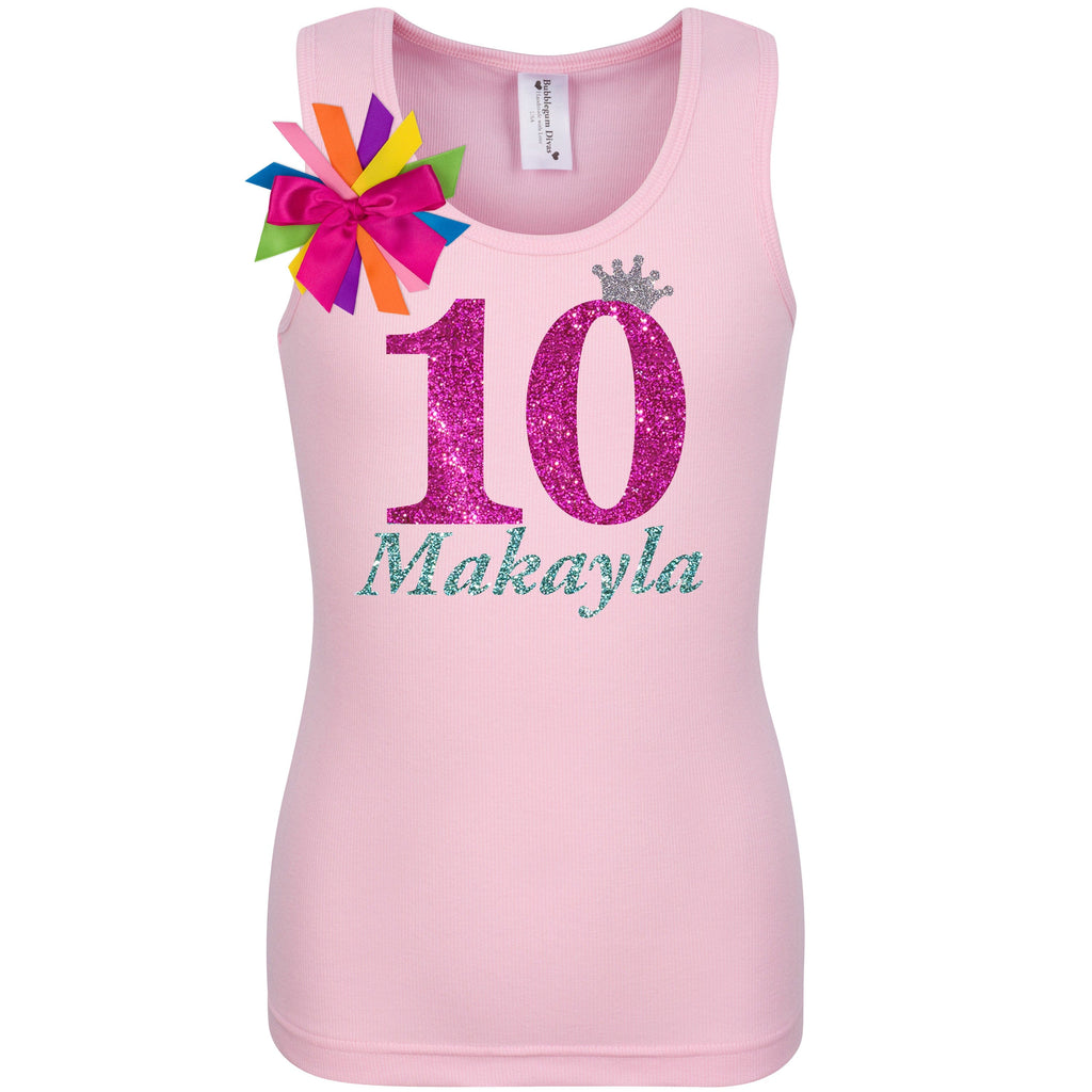 10th Birthday Shirt - Bubble Berry Sparkle - Shirt - Bubblegum Divas Store
