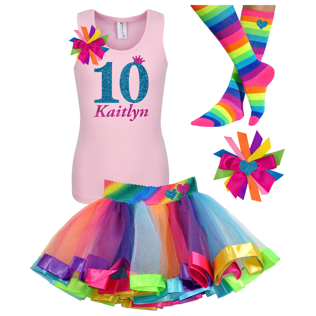 10th Birthday Outfit Blue Diamond - 10th Birthday - Bubblegum Divas Store