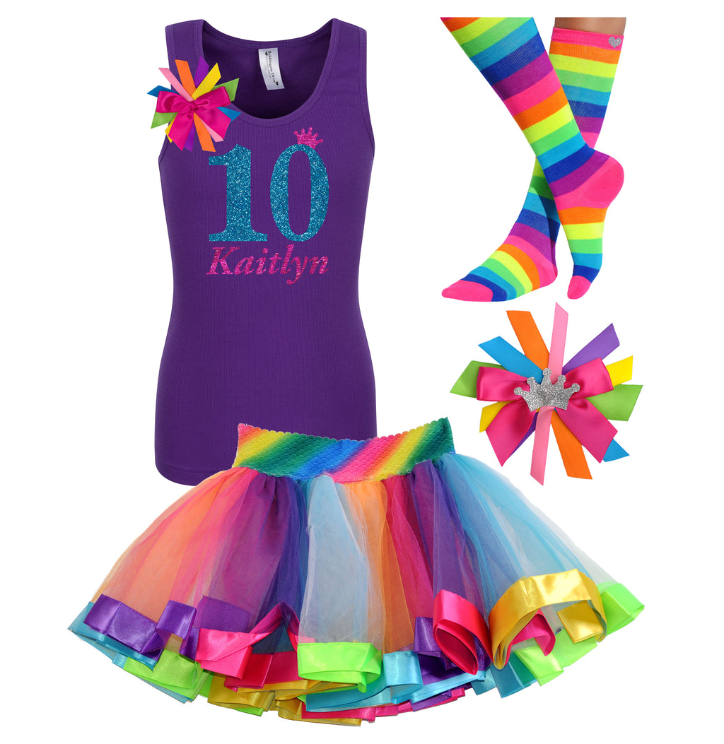10th Birthday Outfit Sparkle Blue